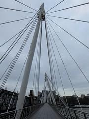 Hungerford Bridge (stillunusual) Tags: uk travel bridge england urban london cityscape streetphotography hungerfordbridge urbanlandscape urbanscenery 2016 travelphotography ldn travelphoto travelphotograph londonstreetphotography