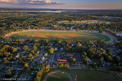 East Side Saratoga (Samantha Decker) Tags: school ny newyork upstate saratogasprings aerial helicopter nyra canonef24105mmf4lisusm oklahomatrack canoneos6d samanthadecker