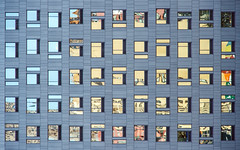 Rhythm & Hues (WalrusTexas) Tags: seattle windows reflection building geometric geometry