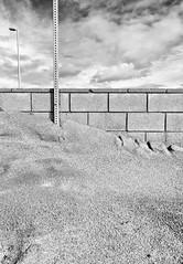 Erosion (autobahn66.com) Tags: sky blackandwhite abstract geometric clouds sand fineart surreal structure minimal erosion simplicity simple minimalistic
