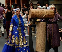Cuneiform Drum (mikecogh) Tags: persian costume ancient pretty dress traditional parade adelaide cbd iranian language multicultural australiaday cuneiform