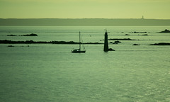 20150809-091_St  Malo_Sea Silhouettes (gary.hadden) Tags: sunset lighthouse seascape landscape evening silhouettes saintmalo stmalo
