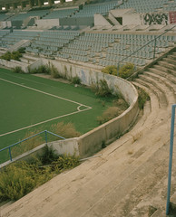 baleares2 (Anders Hviid) Tags: old 120 film analog football kodak stadium soccer negative mallorca palma portra atletico baleares abandond plaubel makina
