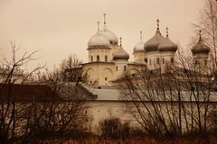 "The St. George's (Yuriev) Monastery - Russia's oldest monastery (Sergei P. Zubkov) Tags: november monastery 2014 church"" ""orthodox ""velikiy novgorod"""