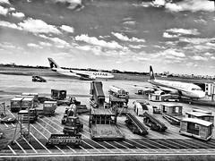 Tan Son Nhat International Airport , HCM . (-Faisal Aljunied - !!) Tags: blackandwhite monochrome airport vietnam saigon aeroplanes hcmc hochiminh tansonnhatinternationalairport iphone6 faisalaljunied