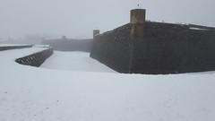Murallas y foso Sur de la Ciudadela (javiervaleroiglesias) Tags: nieve ciudadela jaca murallas jacetania sigloxvi arquitecturamilitar castillodesanpedro