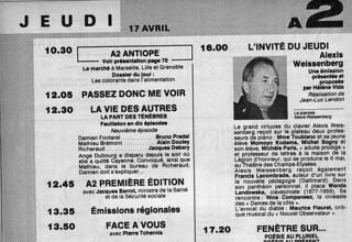 MICHEL SOGNY PRESSE TELE 7 JOURS 17 AVRIL 1981 MICHELE PARIS