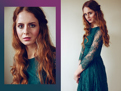 Kinga (Barbara Duchalska) Tags: red portrait green girl beauty fashion ginger spring model dress body head makeup poland polish curly polishgirl polishmodel