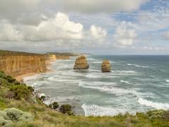 Great Ocean Road, Melbourne (Jill Clardy) Tags: ocean road light sea summer sky clouds landscape golden waves cloudy outdoor great australia melbourne cliffs 12 downunder twelve apostles stacks 4b4a2690 4b4a2691 4b4a2692 4b4a2693 4b4a2694