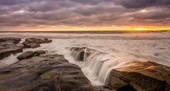 3/4/16 La Jolla Sunset (Adam J Gaeth) Tags: sunset seascape water landscape coast la waterfall san surf diego jolla