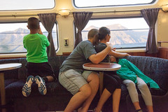 Family (leehobbi) Tags: family mountains green car train canon observation coast amtrak starlight