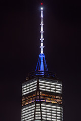 One World Trade (southpaw captures) Tags: world nyc tower night freedom manhattan center spire trade