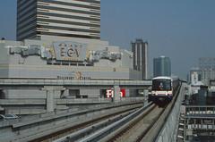 Thailand - Bangkok - Skytrain Pathum Wan (railasia) Tags: 2001 thailand bangkok siemens junction siam infra bts pathumwan thirdrail emu3 sukhumvitline silomline routenº1 elevatedstructure routenº2