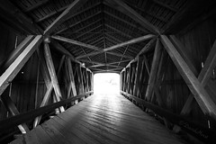 Light at the End (david.horst.7) Tags: bridge blackandwhite bw monochrome coveredbridge