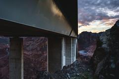Bridge View, Black Canyon, Colorado River (Manny Rodriguez IV) Tags: bridge arizona mountains clouds landscape nevada canyon hooverdam coloradoriver fujifilm blackcanyon archbridge xpro1 canyonbridge mikeocallaghanpattillmanmemorialbridge