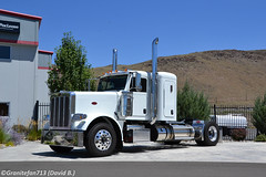 Peterbilt 388 Sleeper Tractor - 2 (NV) (Trucks, Buses, & Trains by granitefan713) Tags: tractor peterbilt newtruck 388 largecar longhood peterbilttruck singleaxle trucktractor peterbilt388 sleepertractor smallbunk