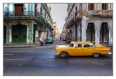 fast car (kurtwolf303) Tags: oldtimer cuba kuba karibik caribbean yellow gelb motion bewegung streetphotography stadt city strase hdr pedestrians fusgnger olympusem5 microfourthirds micro43 buildings gebude car 250v10f speed systemcamera unlimitedphotos urbanlifeinmetropolis topf25 digitalphotography kurtwolf303 topf50 500v20f topf75 topf100 900views 1000v40f 1500v60f 2000views topf150