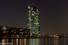 EZB Turm Frankfurt am Main 160318 (Bianchista) Tags: light licht am frankfurt main ezb 2016 zentralbank luminale europische avaible verfgbares bianchista