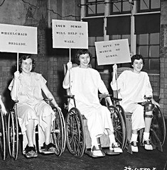 Polio Girls on Wheels (jackcast2015) Tags: disabled polio legbraces disabledwoman handicappedwoman