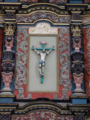"""Valladolid: un christ sur la croix avec les articulations mobiles pour encore plus de réalisme (l'église de San Bernardino) <a style=""""margin-left:10px; font-size:0.8em;"""" href=""""http://www.flickr.com/photos/127723101@N04/25931310596/"""" target=""""_blank"""">@flickr</a>"""