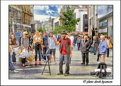 CARD TRICK (Derek Hyamson) Tags: liverpool candid churchstreet hdr