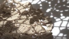 Past & Present - Macro Monday (TuthFaree) Tags: light shadow macro handmade crochet elements generations tablecloth hmm lightshadow inheritance macromondays canon100mm28l