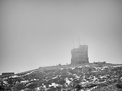 Fog # 19  .... ; (c)rebfoto (rebfoto ....) Tags: fog cabottower stjohnsnewfoundland