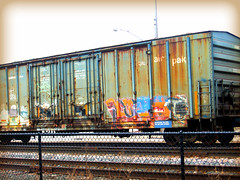 AT THE START OF THE DAY (Visual Images1) Tags: minnesota train graffiti 6ws hopkins