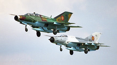 Pair of Romanian Fisbed's (Angle-of-Attack) Tags: airplane 2000 aircraft aviation military airshow volkel klu