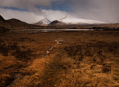 Rannoch View (stoneleighboy) Tags: light snow mountains beauty landscape scotland nikon natural wilderness rannochmoor unspoilt