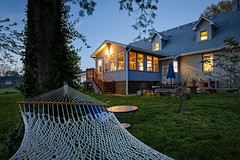 Backyard Light (Notley) Tags: house home architecture evening spring realestate outdoor dusk missouri hammock april serene bluehour nocturne warmlight columbiamissouri 2016 10thavenue notley boonecountymissouri realestatephotography notleyhawkins missouriphotography httpwwwnotleyhawkinscom notleyhawkinsphotography columbiamissourihome