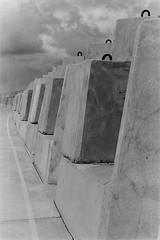 Breakwater 4 (colin mclellan) Tags: blackandwhite film monochrome analog nikon kodak f100 nikonf100 analogue coffsharbour kentmere kentmere100