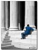 20080319_1304 (gabrielpsarras) Tags: bw man monument stairs blackwhite downtown steps athens greece historical column marble selectivecolor zappeion αθήνα zappeio ζάππειο