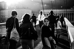 Mlancolie d'un soir de ville (PaxaMik) Tags: street noir lyon noiretblanc lumire streetphotography streetlife contraste streetphoto foule soir saintjean mlancolie passants nb