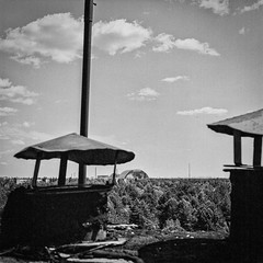 Schornsteine (naturalbornclimber) Tags: urban bw decay radiation nuclear ukraine hasselblad disaster medium format exploration bnw zone chernobyl exclusion urbex tschernobyl pripyat hasselblad503cx prypjat