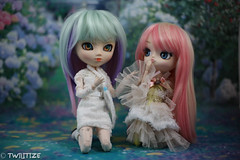 Sisters (twilitize) Tags: camera girls cute art girl beautiful beauty canon photography cool doll dolls play good girly awesome adorable dal cutie pop adventure groove pullip playtime dolly popular angelica darling pullips photostream dollphotography canonphotography pullipphotography