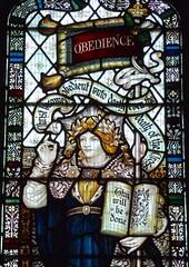 Retford - St Swithun's - Kempe Glass (Glass Angel) Tags: tower stainedglass obedience warmemorial nottinghamshire retford kempe stswithun