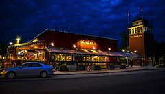 Moody Blues (Images by Christie  Happy Clicks for 2016!) Tags: nightphotography canada night pub bc explore dating nostalgic romantic historical dining bluehour fortlangley afterdark ambiance tikitorches moodyblues townshipoflangley