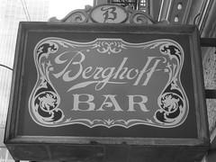Chicago, Berghoff Bar Sign (Mary Warren (6.7+ Million Views)) Tags: urban blackandwhite chicago monochrome sign bar restaurant text berghoff wbez chicagoist explorechicago timeoutchicagophotogroup gapersblockchicago outofchicago