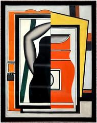 Fernand Lger, Le miroir, 1925, huile sur toile (Barbara DALMAZZO-TEMPEL) Tags: nyc manhattan moma museumofmodernart 1925 oiloncanvas themirror fernandlger huilesurtoile lemiroir