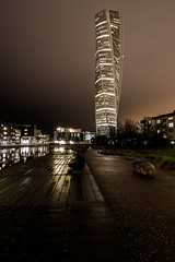 The turning torso (mbernholdt) Tags: street city nightphotography building tower night skyscraper photography lights se sweden torso malm turning malm turningtorso photogaphy skneln 500px streetphotogaphy