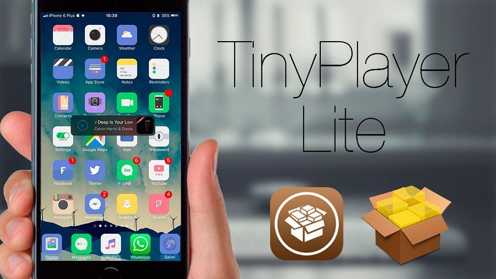 បើកបញ្ជា និងស្តាប់ចម្រៀងលើផ្ទៃ Homescreen ដោយគ្មានទាស់ជាមួយ Tweak TinyPlayer Lite