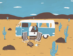 Roam Free (http://www.donnyvdvelden.com/) Tags: vacation cactus illustration dessert freedom free roadtrip illustrator roam illustrationaday