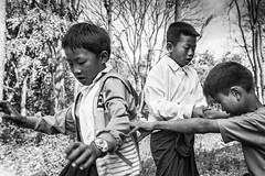 The Triangle-DSC_8511-2 (thomschphotography3) Tags: school blackandwhite playing boys children burma streetphotography myanmar birma pupils