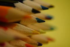 Blue pencil tip (Wim van Bezouw) Tags: blue blur pencil focus tip raynox selectiveconceptualdof