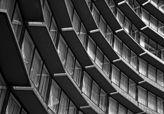 Tullamarine VIC (phunnyfotos) Tags: windows bw building lines architecture mono hotel airport nikon angle australia melbourne monotone victoria lookingup holidayinn d750 curtains vic curve tullamarine sunshades melbourneairport phunnyfotos nikond750