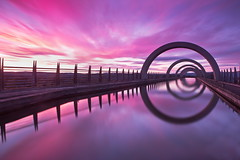 Falkirk Wheel (overhoist) Tags: sunset canon scotland falkirkwheel overhoist canoneos5dmarkiii