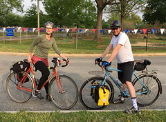 Mary and Ryan (Mr.TinDC) Tags: friends people cyclists ryan mary bikes bicycles salsa vaya quickbeam hainspoint coffeeneur