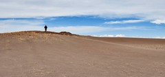 Feeling really small...  Great Sand Dunes Colorado (KWinters Photography) Tags: blue sky texture nature colors grass lines clouds person sand nikon colorado flickr shadows outdoor dunes human nikkor d5500