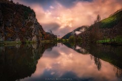 Poem without words (Blai Figueras) Tags: longexposure sky panorama lake mountains water clouds sunrise reflections river landscape agua flickr photographer horizon atmosphere paisaje amanecer le cielo eden paraiso reflejos montaas silkeffect